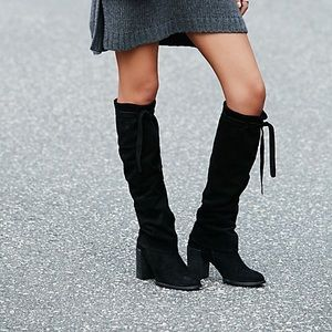 Free people tall BASETTS boots suede tie top 39